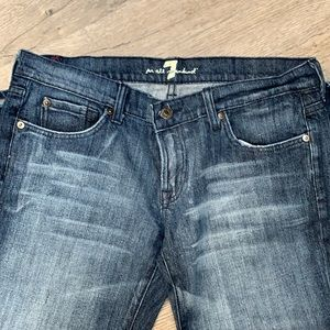 7 for All Mankind Flare Blue Jeans. Size 30